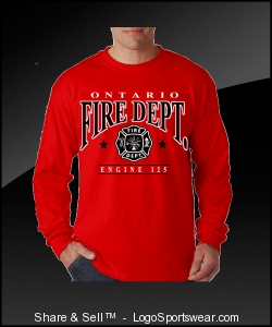 LONG SLEEVE OFD SHIRT IN RED Design Zoom